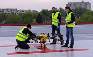 Drone used in Poland to transport COVID-19 samples for testing - (c) PANSA